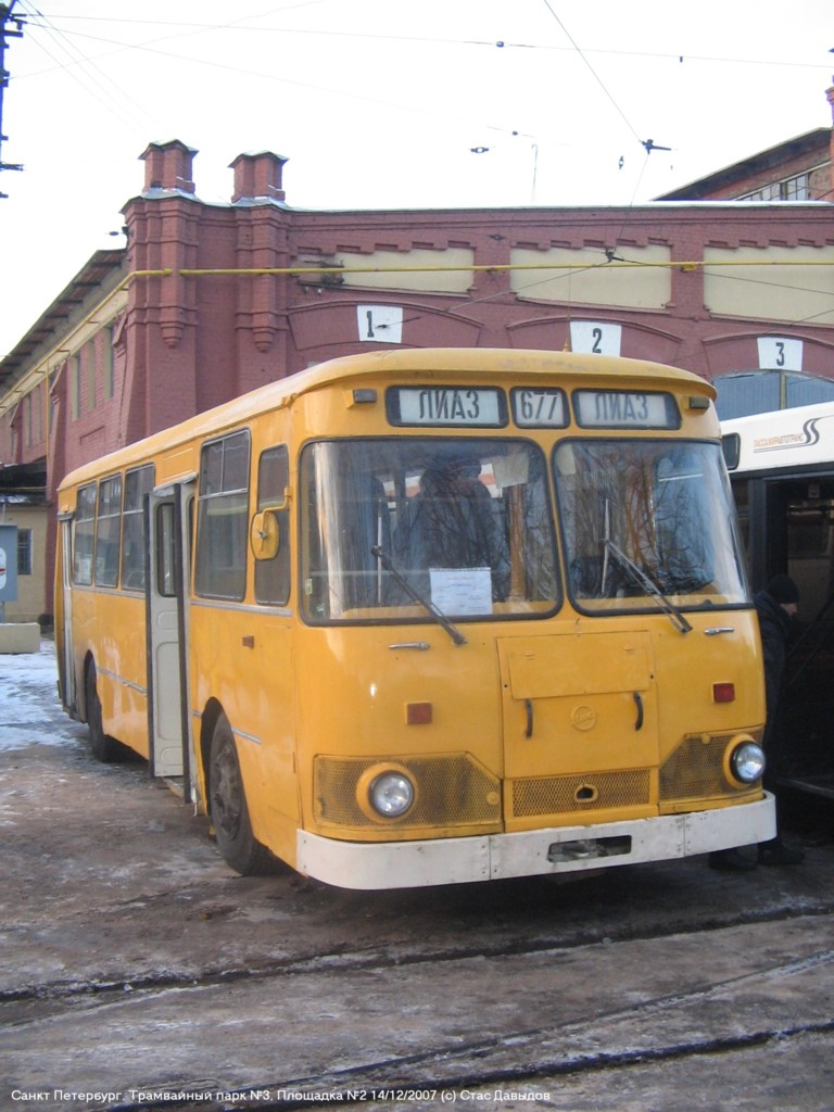 Saint-Petersburg, LiAZ-677M # 7009; Saint-Petersburg — Exhibition of public transport (2007)