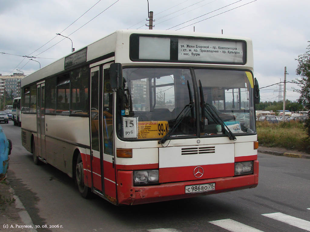 Saint-Petersburg, Mercedes-Benz O405 # С 986 ВО 78