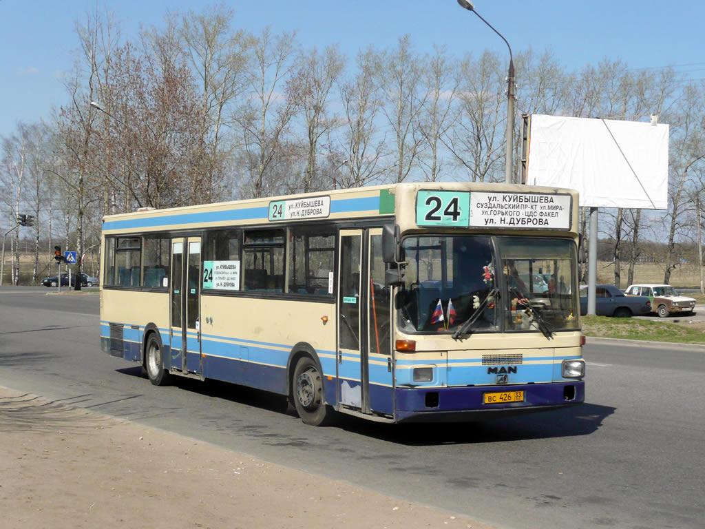Vladimir region, MAN SL202 # ВС 426 33