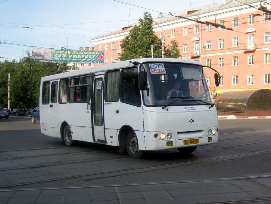 Тульская область, Богдан А09212 № ВА 166 71