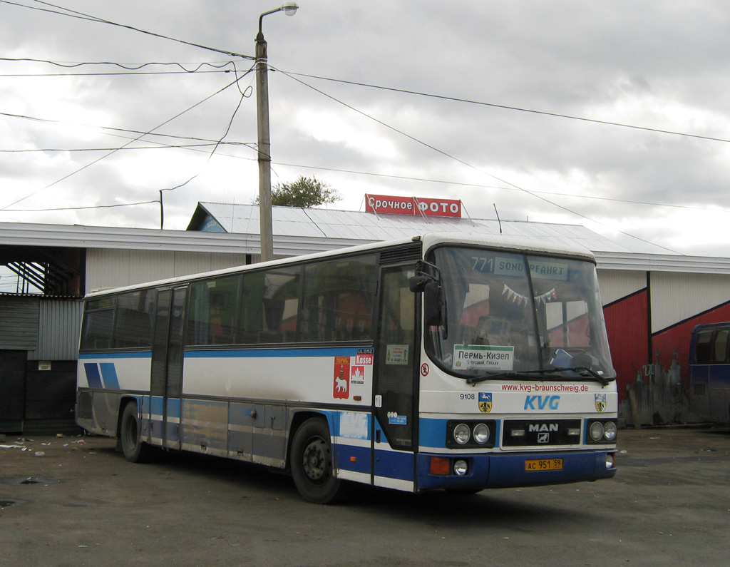 Perm region, MAN 893 ÜL242 # АС 951 59