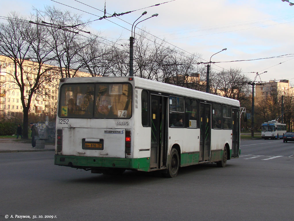 Saint-Petersburg, LiAZ-5256.25 # 1252