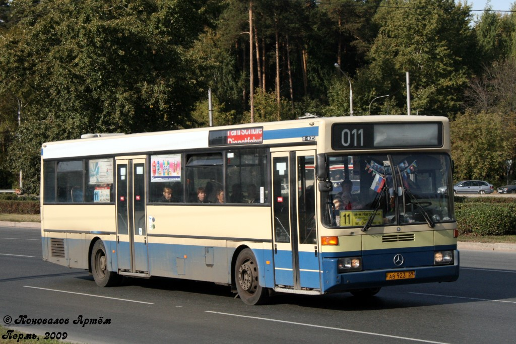 Perm region, Mercedes-Benz O405 # АВ 923 59