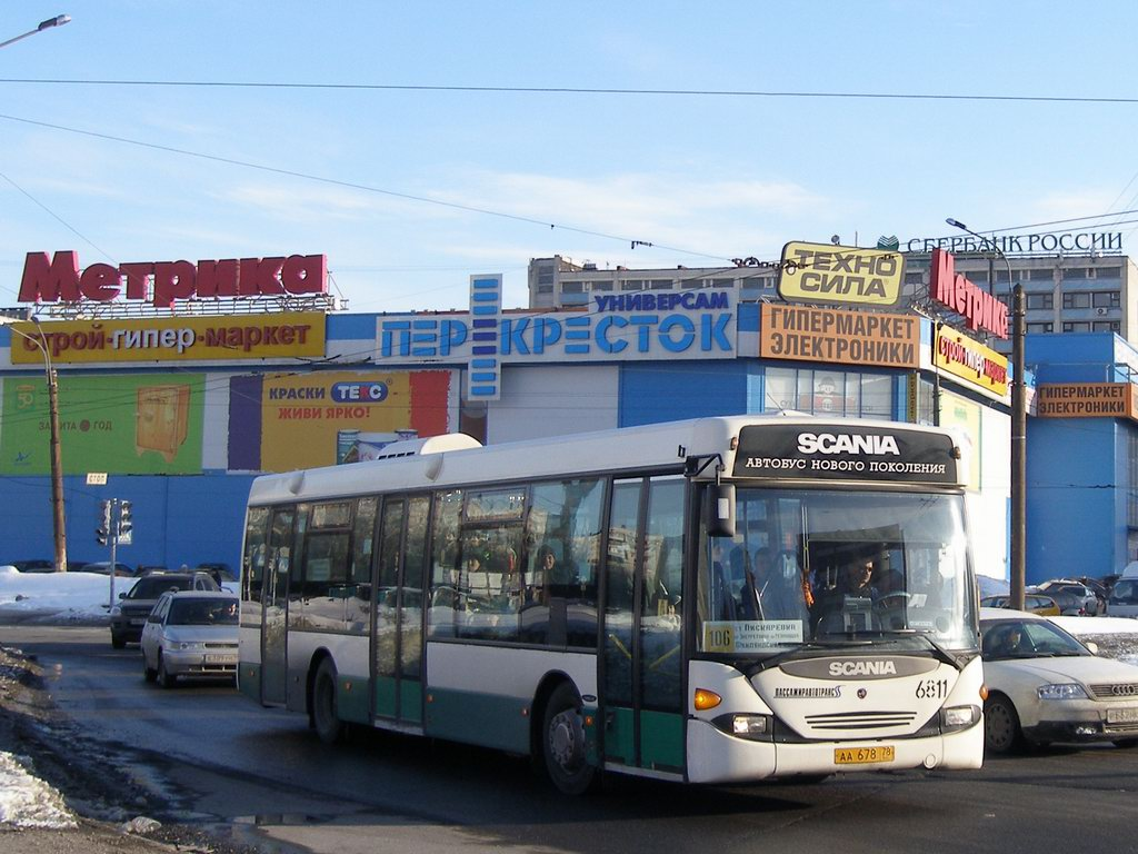 Saint-Petersburg, Scania OmnLlink CL94UB # 6811