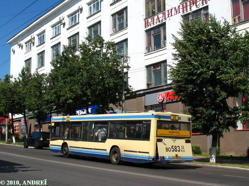 Vladimir region, MAN A10 NL202 # ВО 583 33