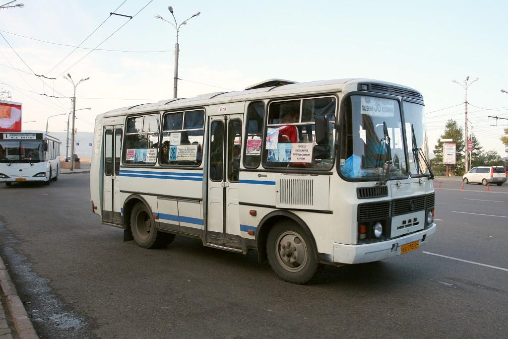 Krasnoyarsk region, PAZ-32054 (40, K0, H0, L0) # ЕВ 018 24