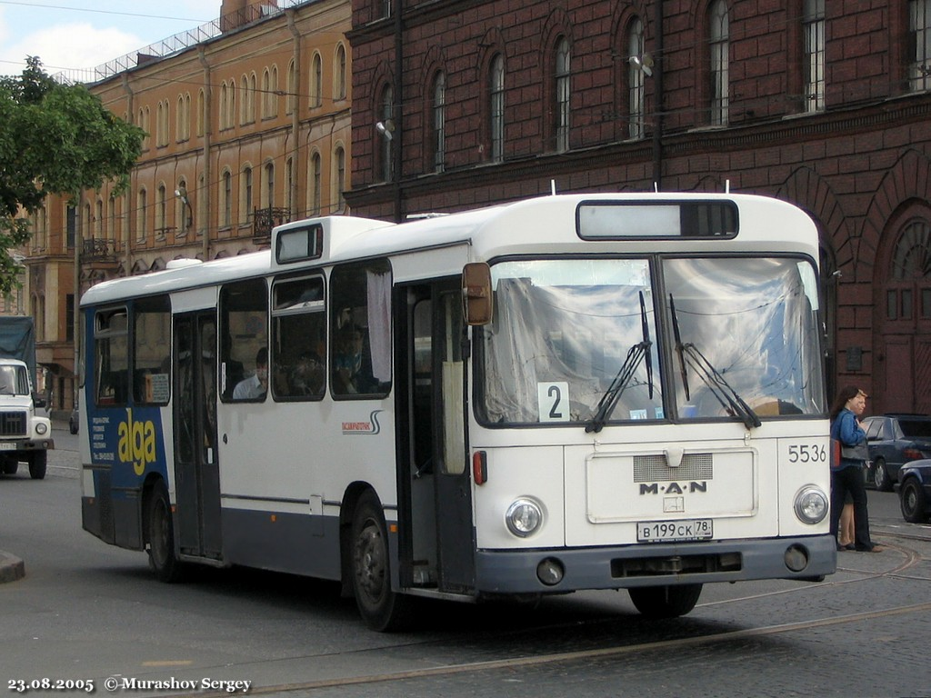 Saint Petersburg, MAN SL200 # 5536