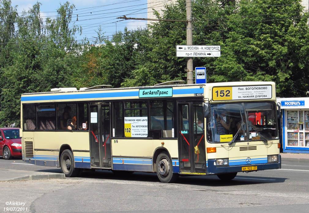 Vladimir region, Mercedes-Benz O405N2 # ВР 922 33