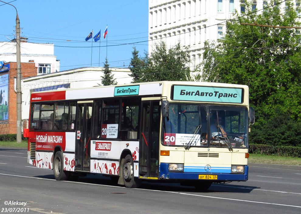 Vladimir region, Mercedes-Benz O405N2 # ВР 824 33