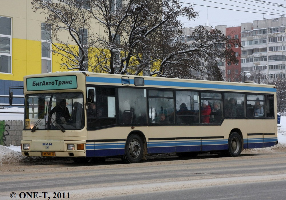 Vladimir region, MAN A10 NL202 # ВО 580 33