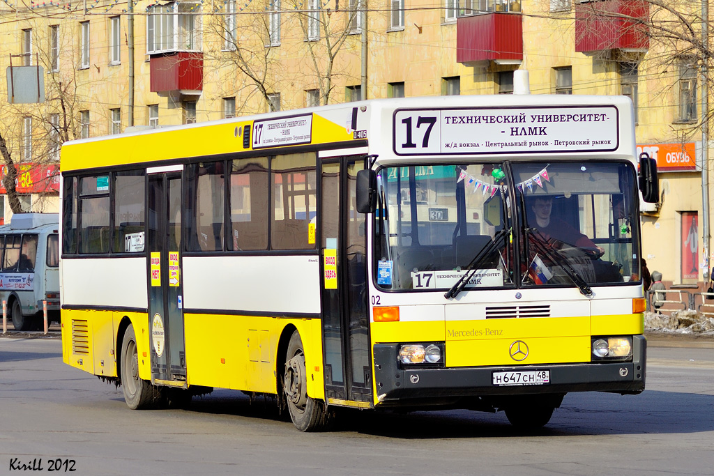 Lipetsk region, Mercedes-Benz O405 # Н 647 СН 48