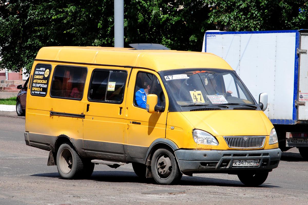 Bryansk region, GAZ-322132 (XTH, X96) # К 347 МС 32