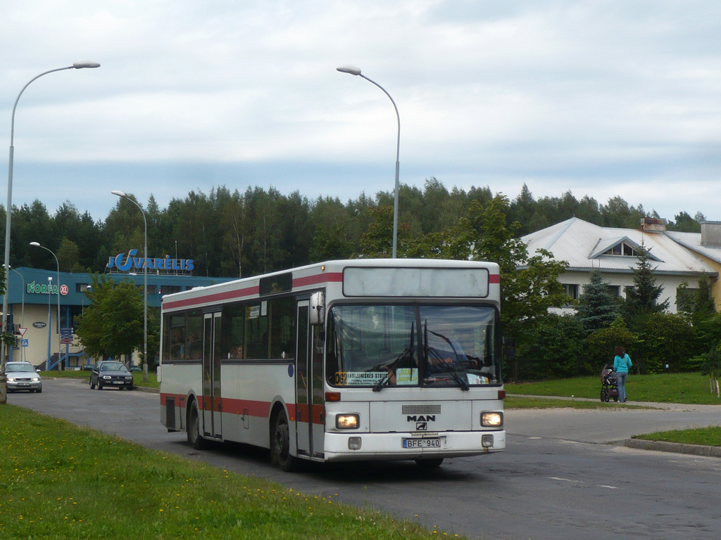 Lithuania, MAN SL202 # BFE 940