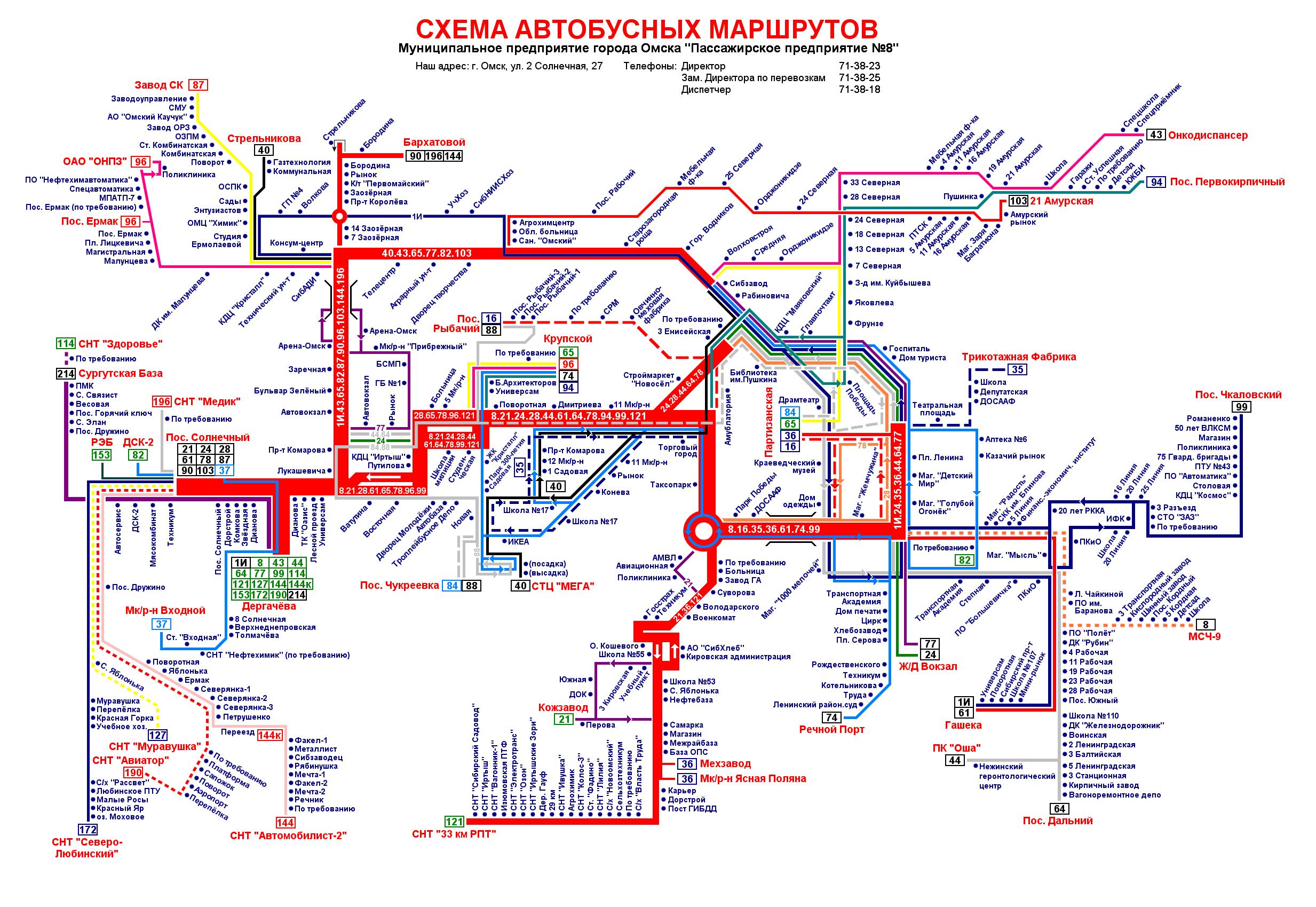 Omsk region — Maps