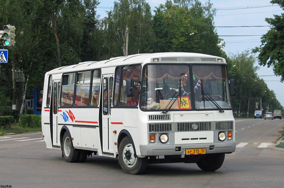Nizhegorodskaya region, PAZ-4234 (00, T0, K0, B0) # АР 315 52