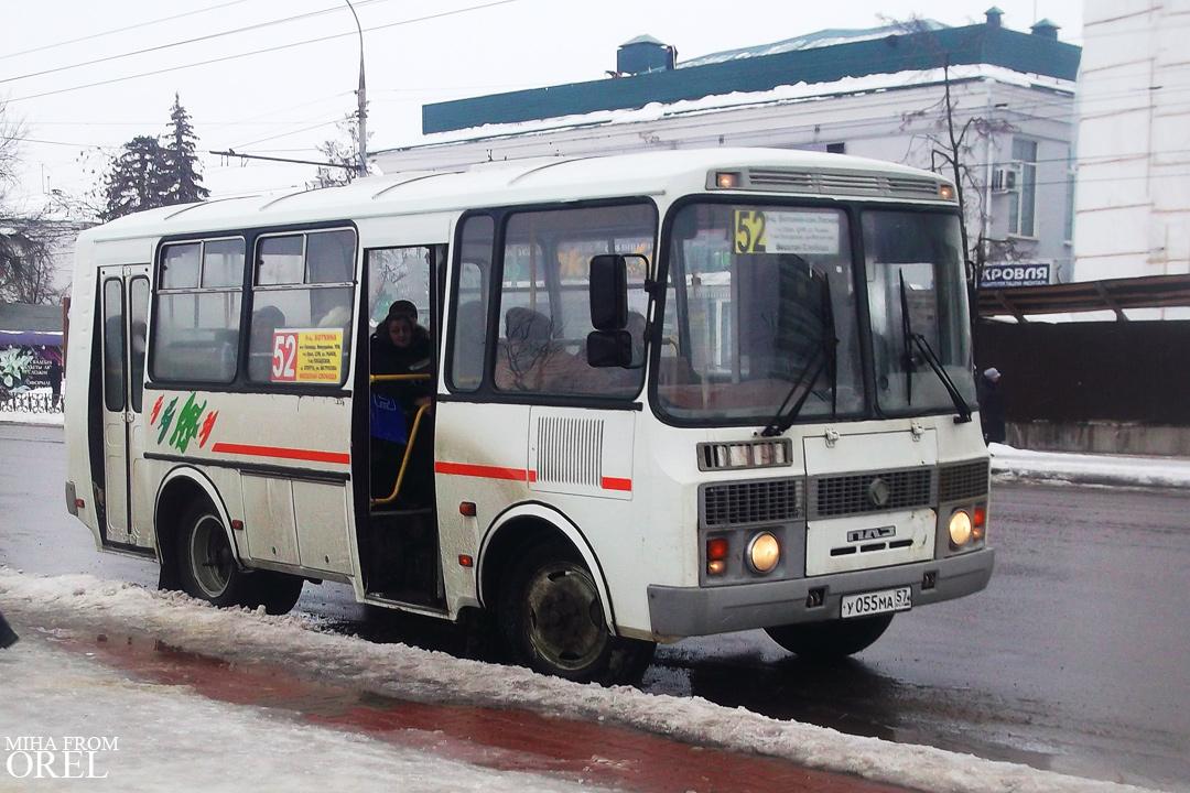 Oryol region, PAZ-32054-07 (4R, KR, HR) # У 055 МА 57