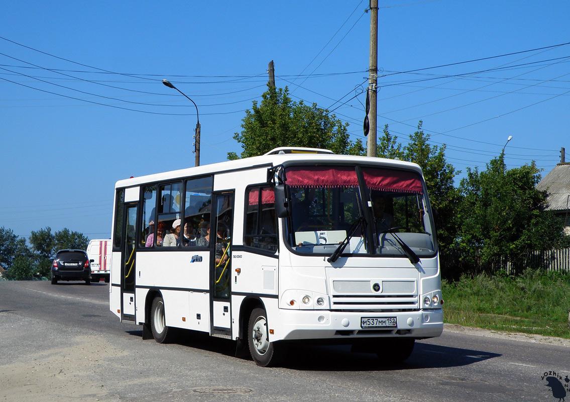 Nizhegorodskaya region, PAZ-320402-05 (2E, 2R, 2F) # М 537 ММ 152