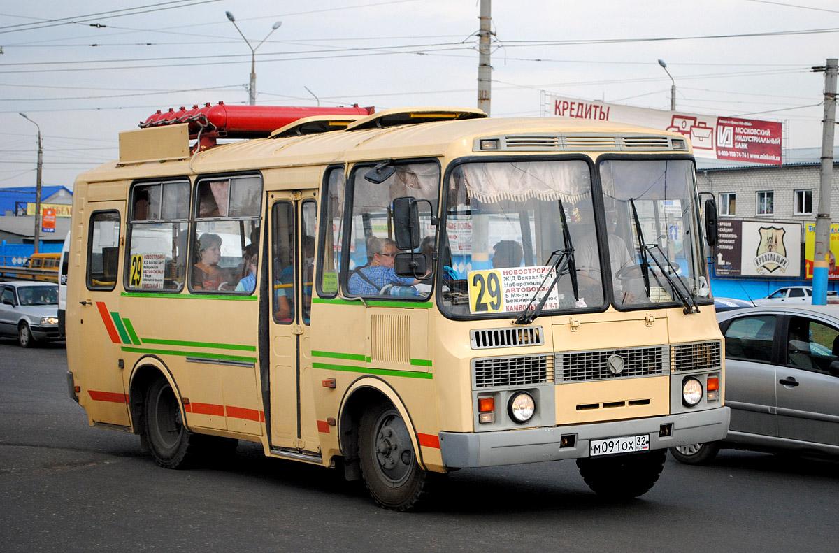 Bryansk region, PAZ-32053 (30, E0, C0, B0) # М 091 ОХ 32