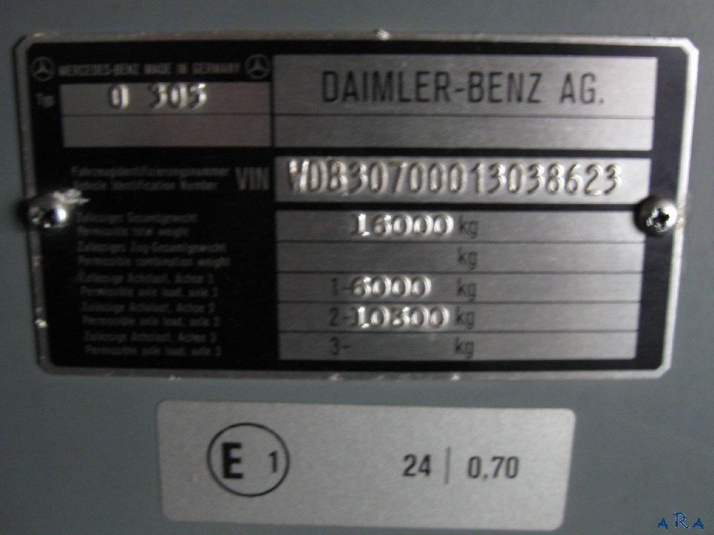 Lithuania, Mercedes-Benz O305 # NAV 797