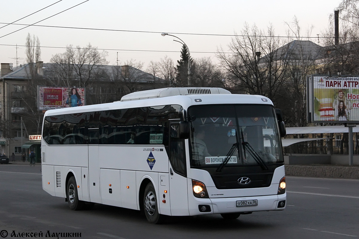 Voronezh region, Hyundai Universe Space Luxury # Х 082 ХА 36