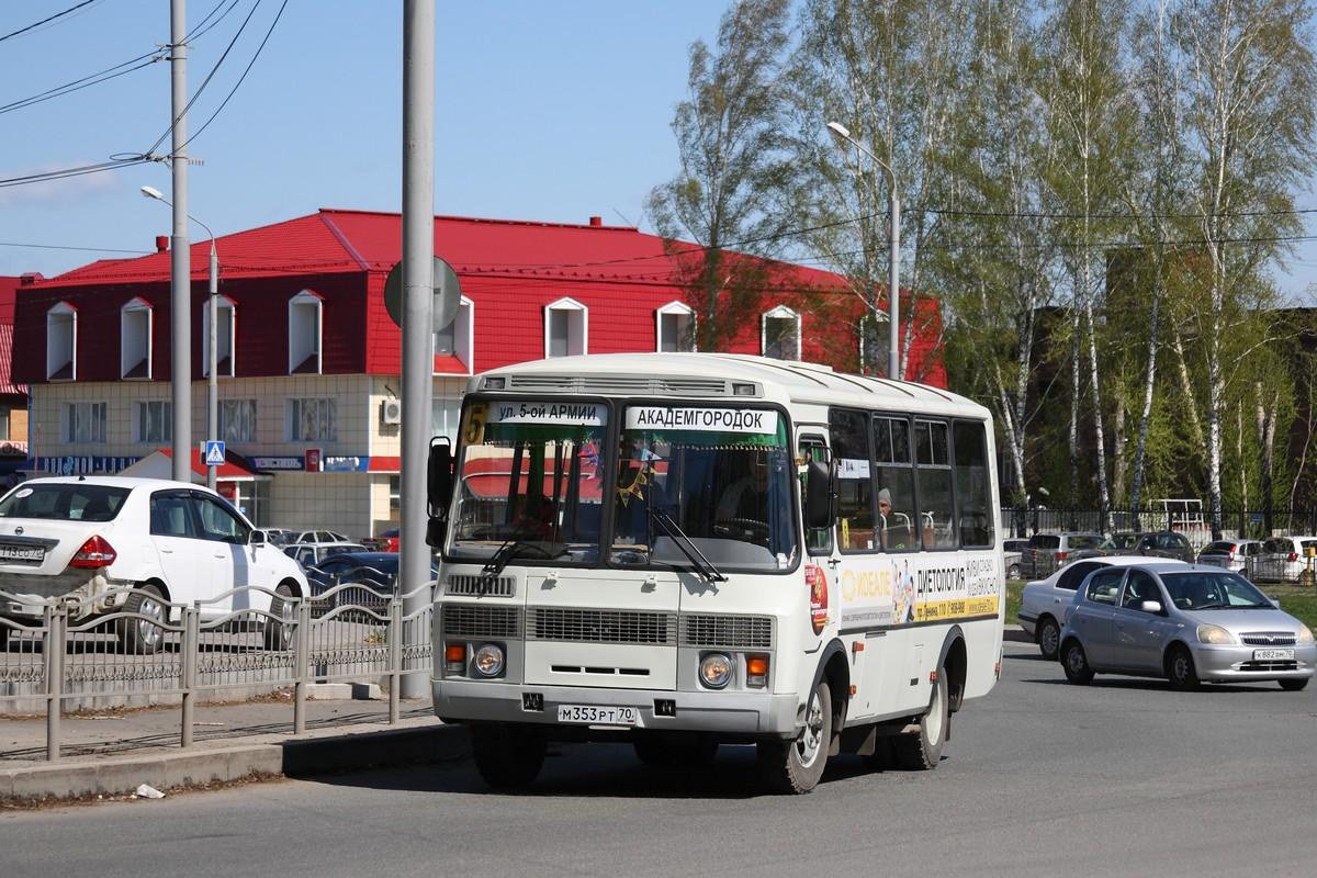 Tomsk region, PAZ-32053 (30, E0, C0, B0) # М 353 РТ 70