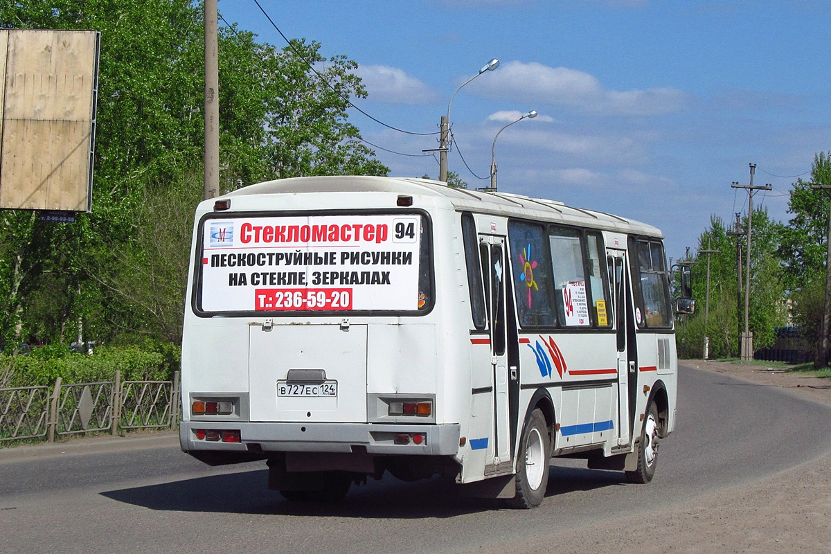 Krasnoyarsk region, PAZ-4234 (00, T0, K0, B0) # В 727 ЕС 124