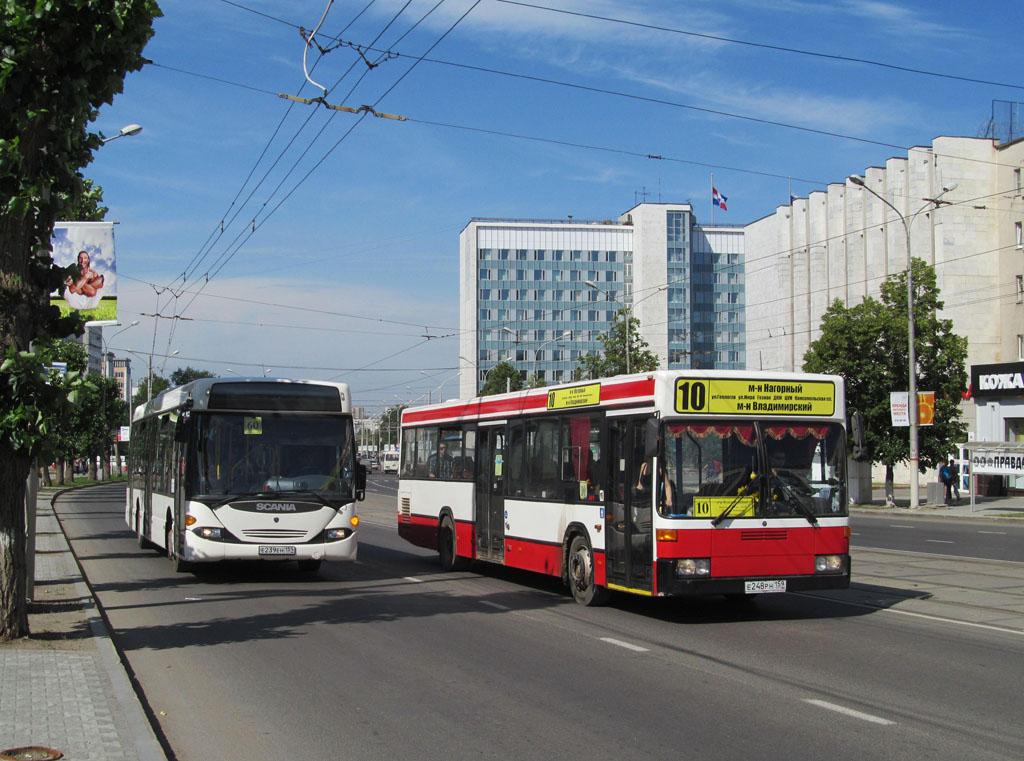 Perm region, Scania OmniLink CL94UB # Е 239 ЕН 159; Perm region, Mercedes-Benz O405N2 # Е 248 РН 159