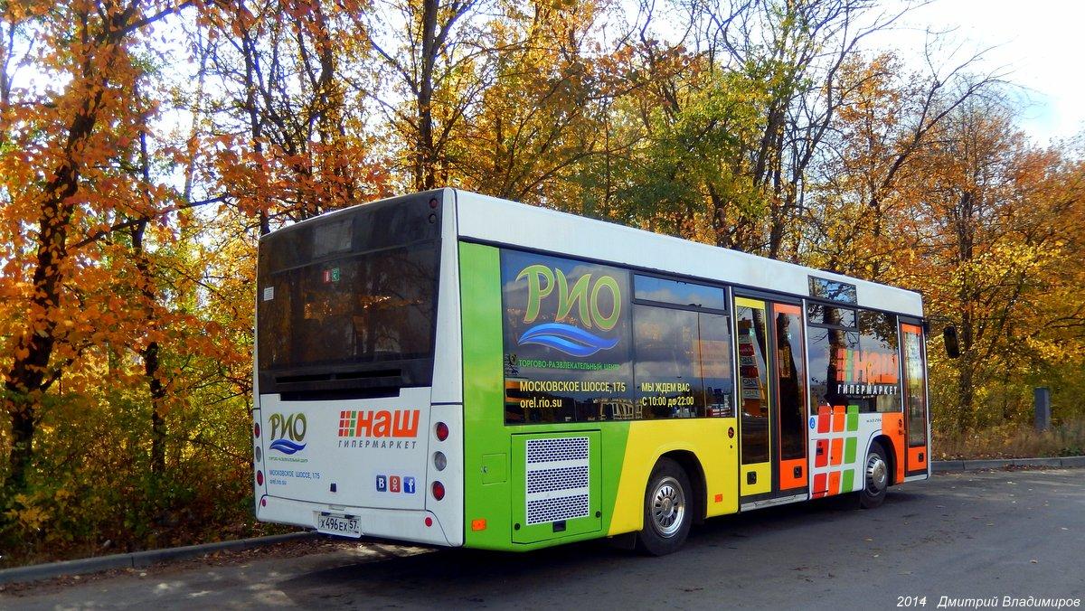 Oryol region, MAZ-206.063 # Х 496 ЕХ 57