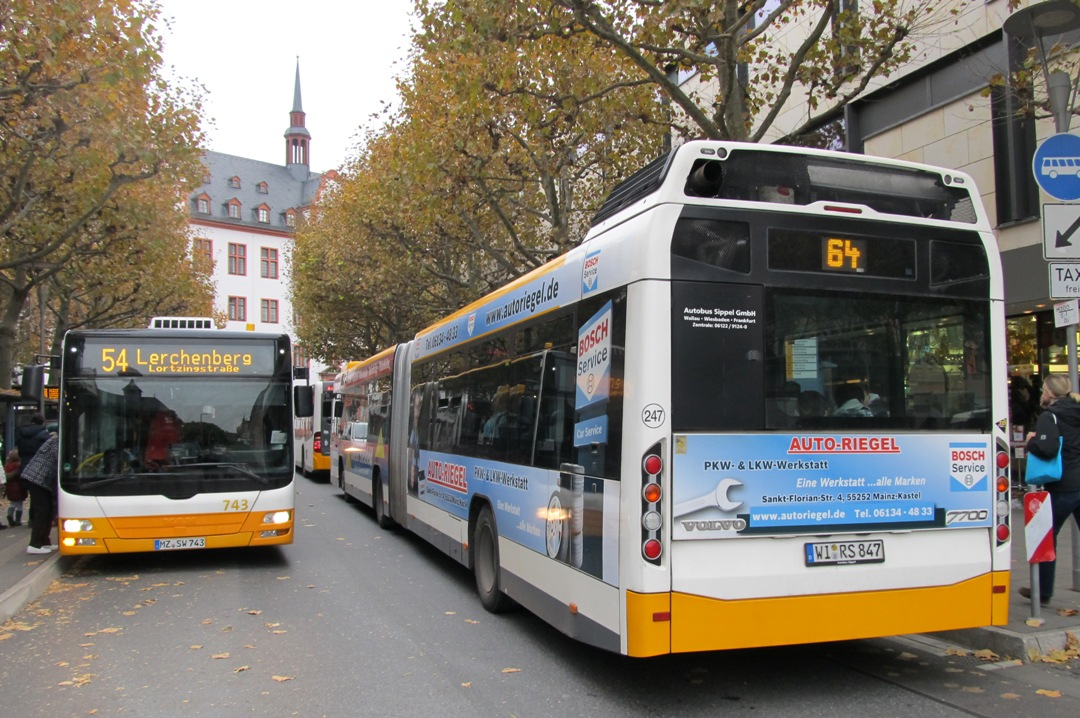 Germany, MAN A23 Lion's City G NG313 # 743; Germany, Volvo 7700A # 247