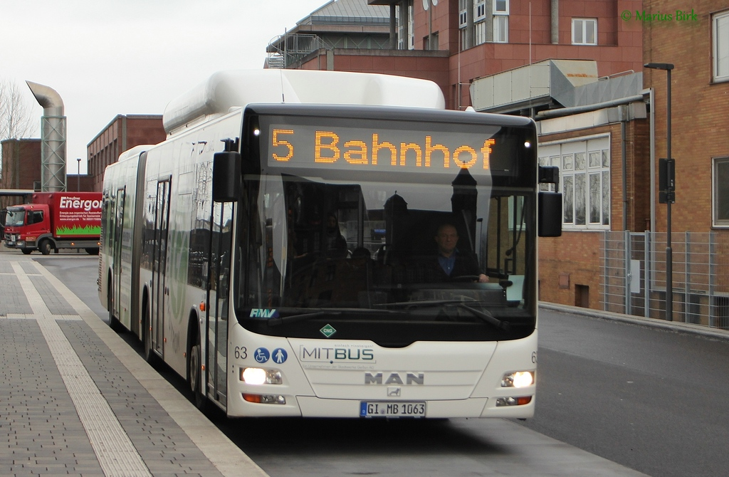 Germany, MAN A23 Lion's City G NG313 CNG # 63