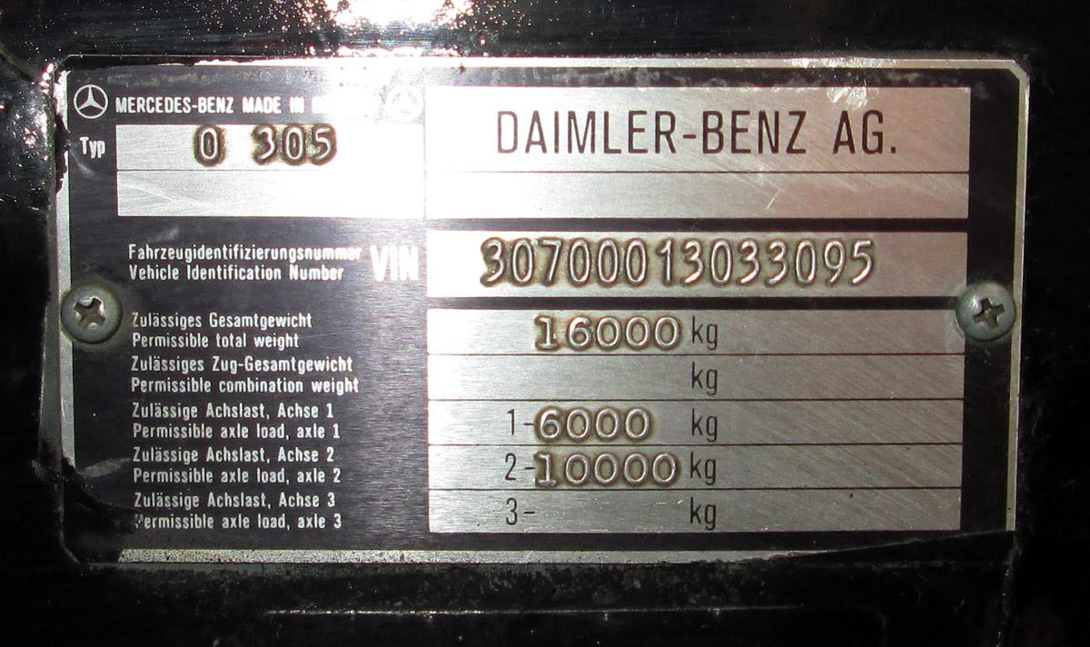 Kaliningrad region, Mercedes-Benz O305 # 1137