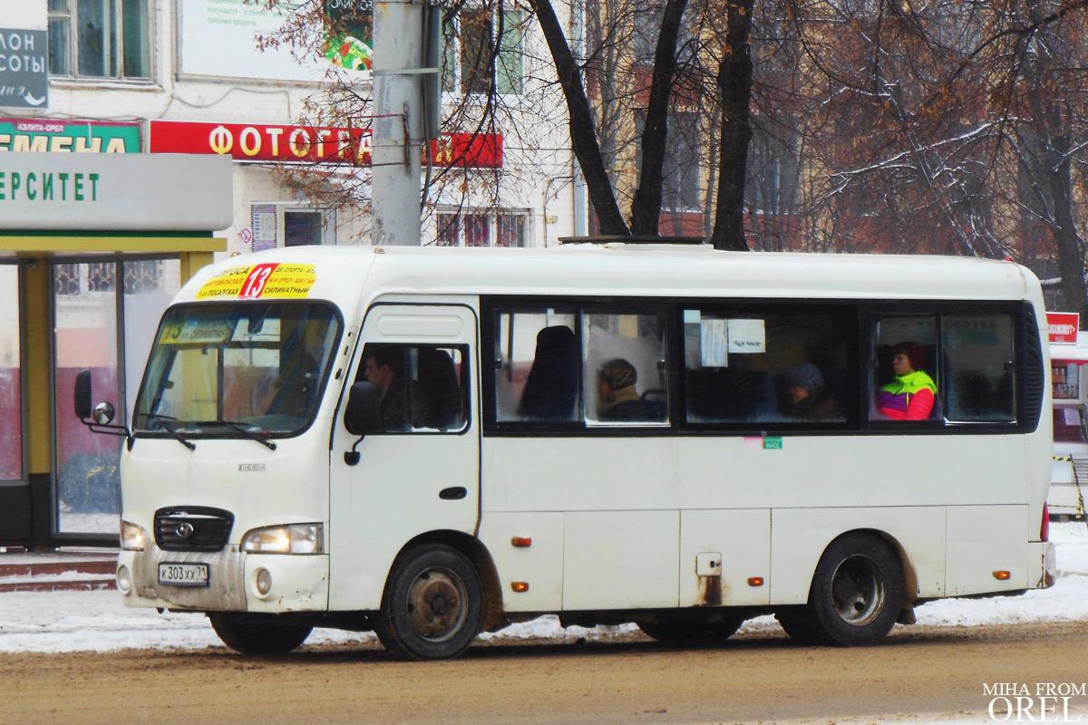 Oryol region, Hyundai County SWB (TagAZ) # К 303 ХХ 71