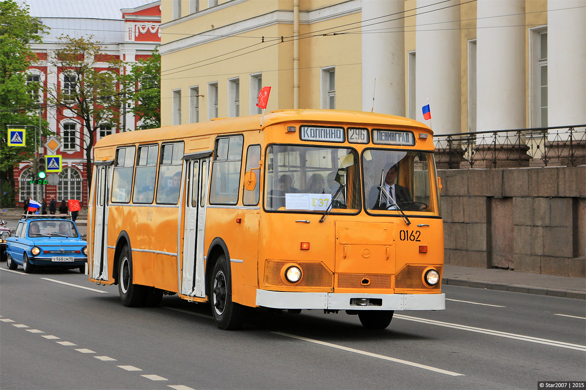 Saint-Petersburg, LiAZ-677M # 7009; Saint-Petersburg — 1st St. Peterburg Parade of retro-transport, 24 May 2015