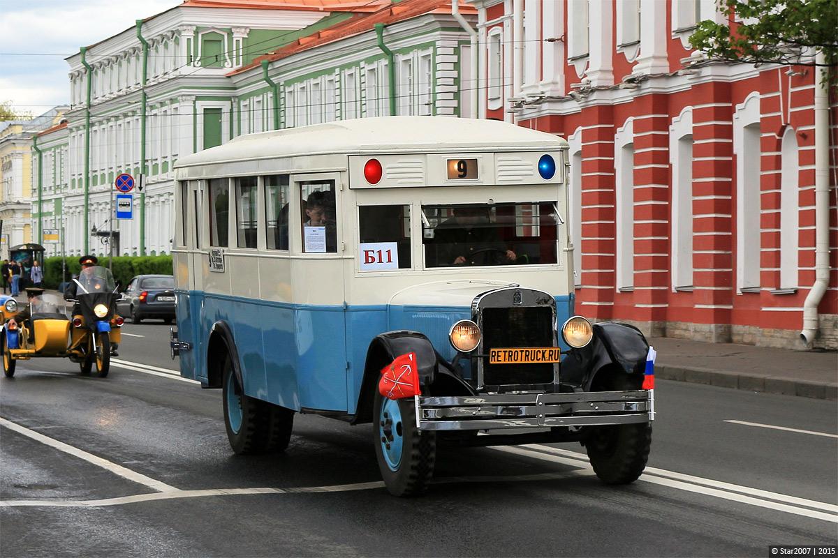 Saint-Petersburg, ZiS-8 # ЗиС-8; Saint-Petersburg — 1st St. Peterburg Parade of retro-transport, 24 May 2015