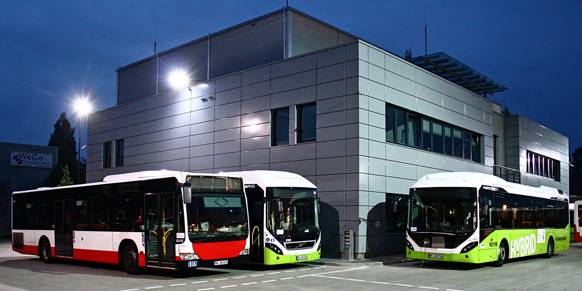 Germany, Mercedes-Benz O530 Citaro # 8310; Germany, Volvo 7900 Hybrid # 8193; Germany — Miscellaneous photos