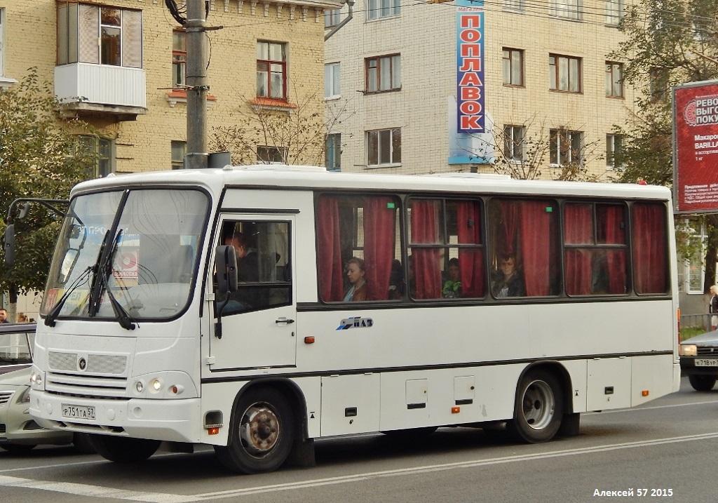 Oryol region, PAZ-320402-05 (2E, 2R, 2F) # Р 751 ТА 57