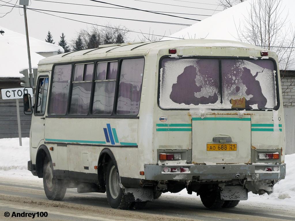 Чувашия, ПАЗ-32053 (30, E0, C0, B0) № АО 688 21
