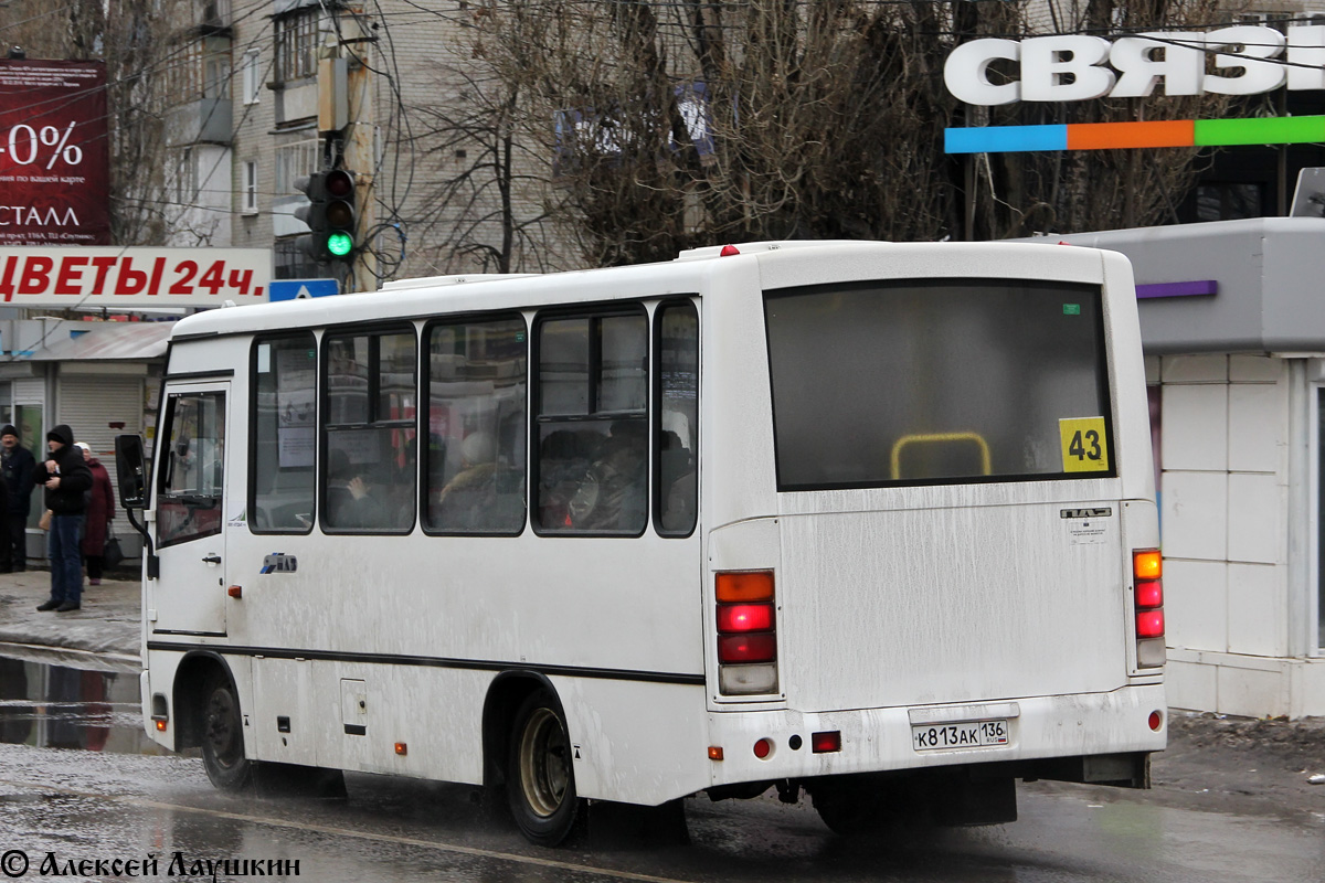 Воронежская область, ПАЗ-320302-08 (2H, 2U) № К 813 АК 136