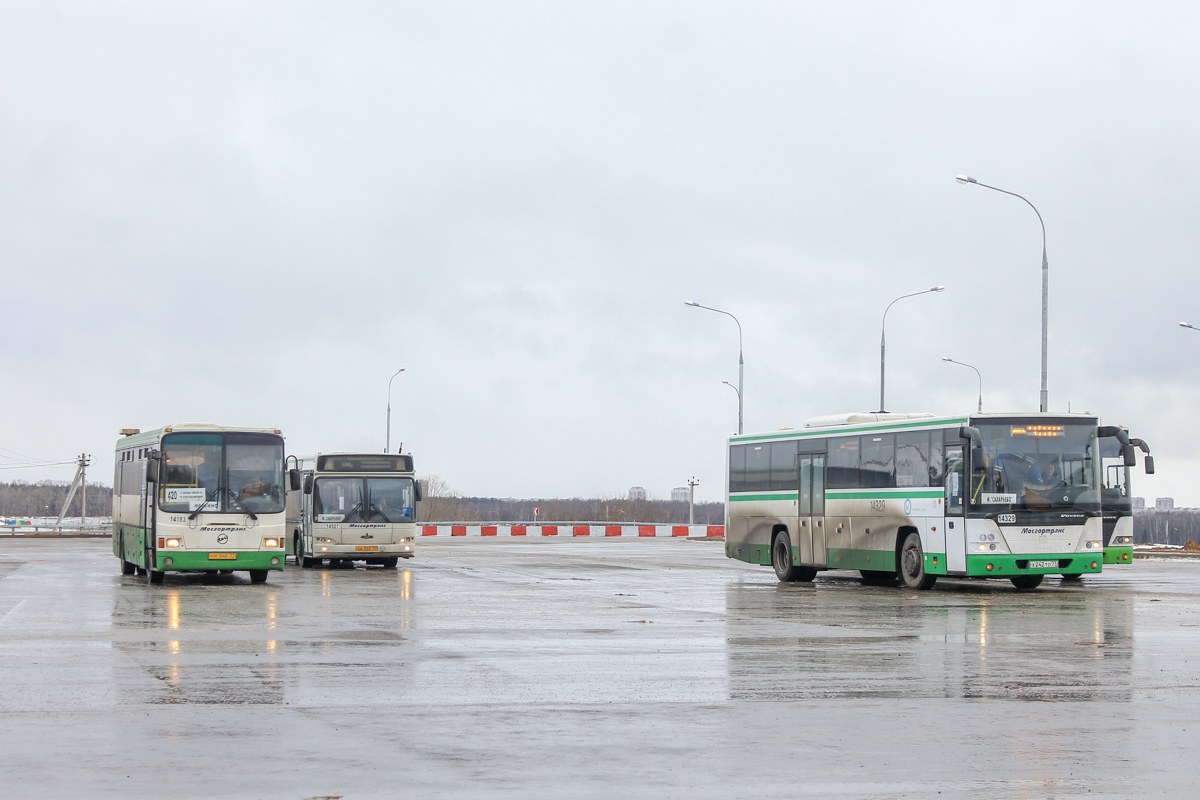 """Moscow, LiAZ-5256.13 # 14183; Moscow, GolAZ-525110-11 """"Voyage"""" # 14329; Moscow — Bus stations"""
