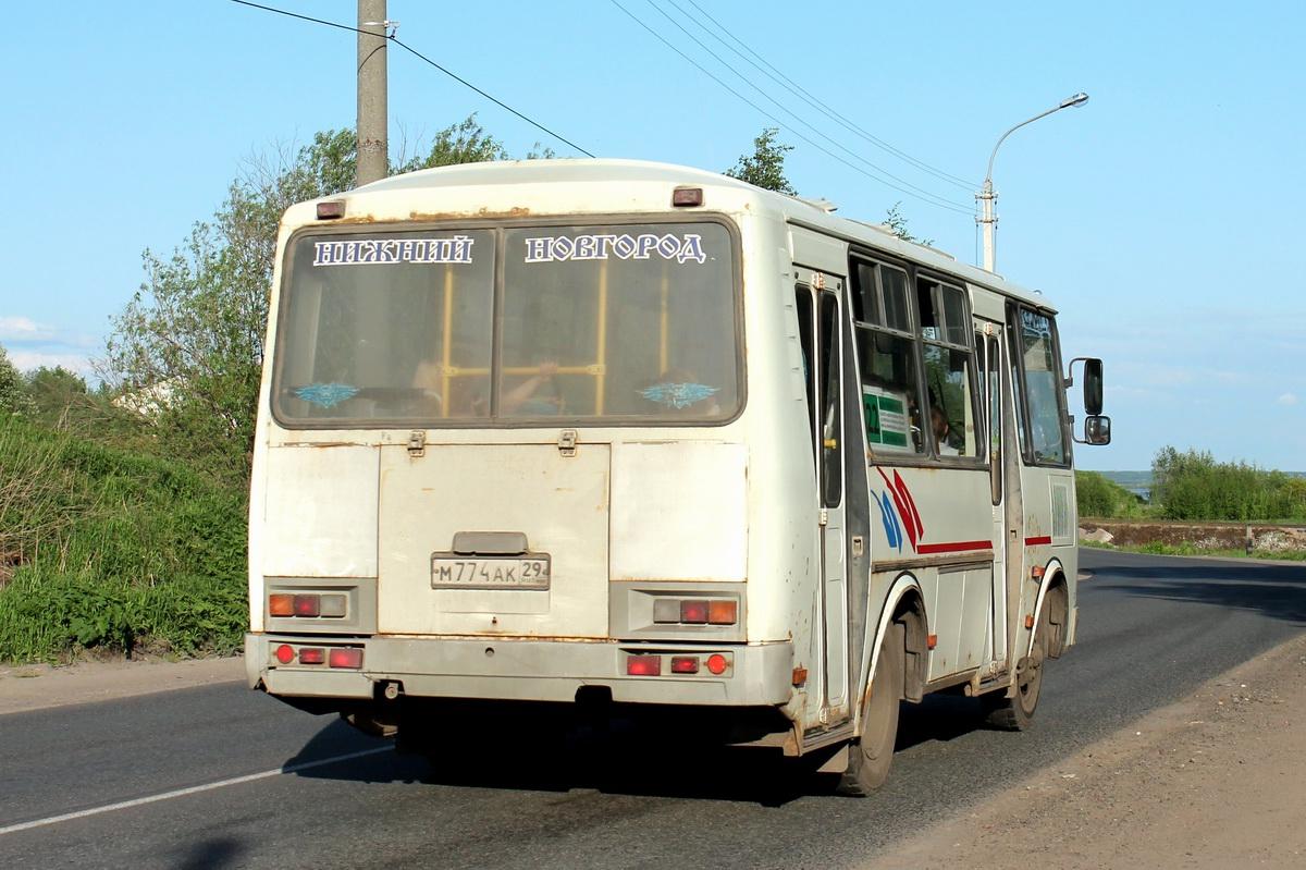 Arhangelsk region, PAZ-32054 (40, K0, H0, L0) # М 774 АК 29