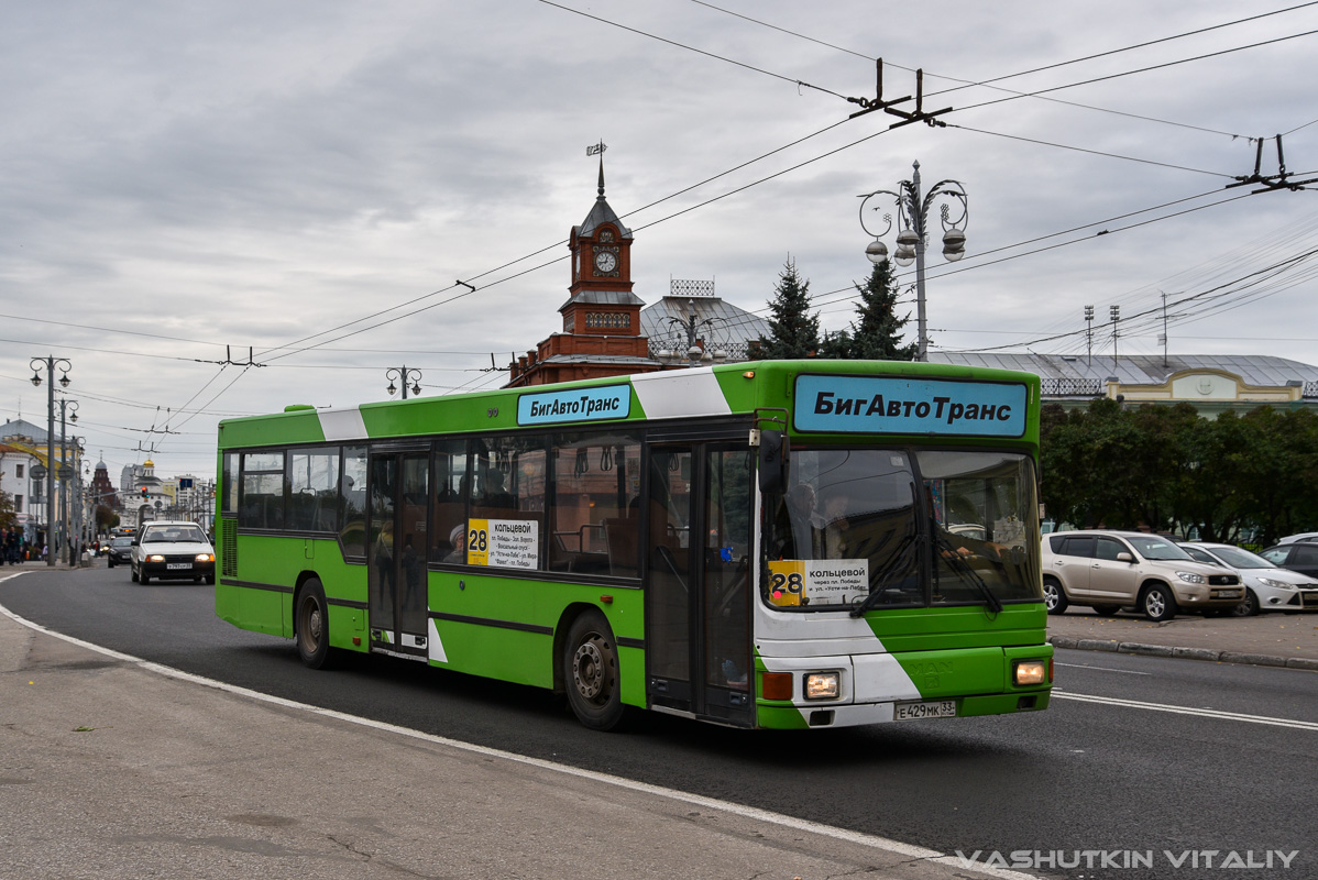 Vladimir region, MAN A10 NL202 # Е 429 МК 33