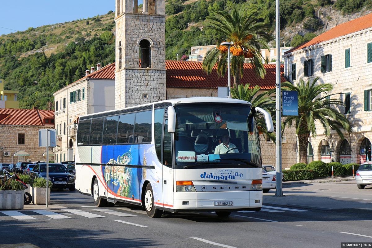 Автобусные перевозки в Хорватии выполняются на комфортабельных машинах