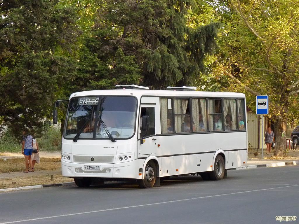 """Севастополь, ПАЗ-320412-04 """"Вектор"""" (CP, CS) № А 739 ОТ 92"""