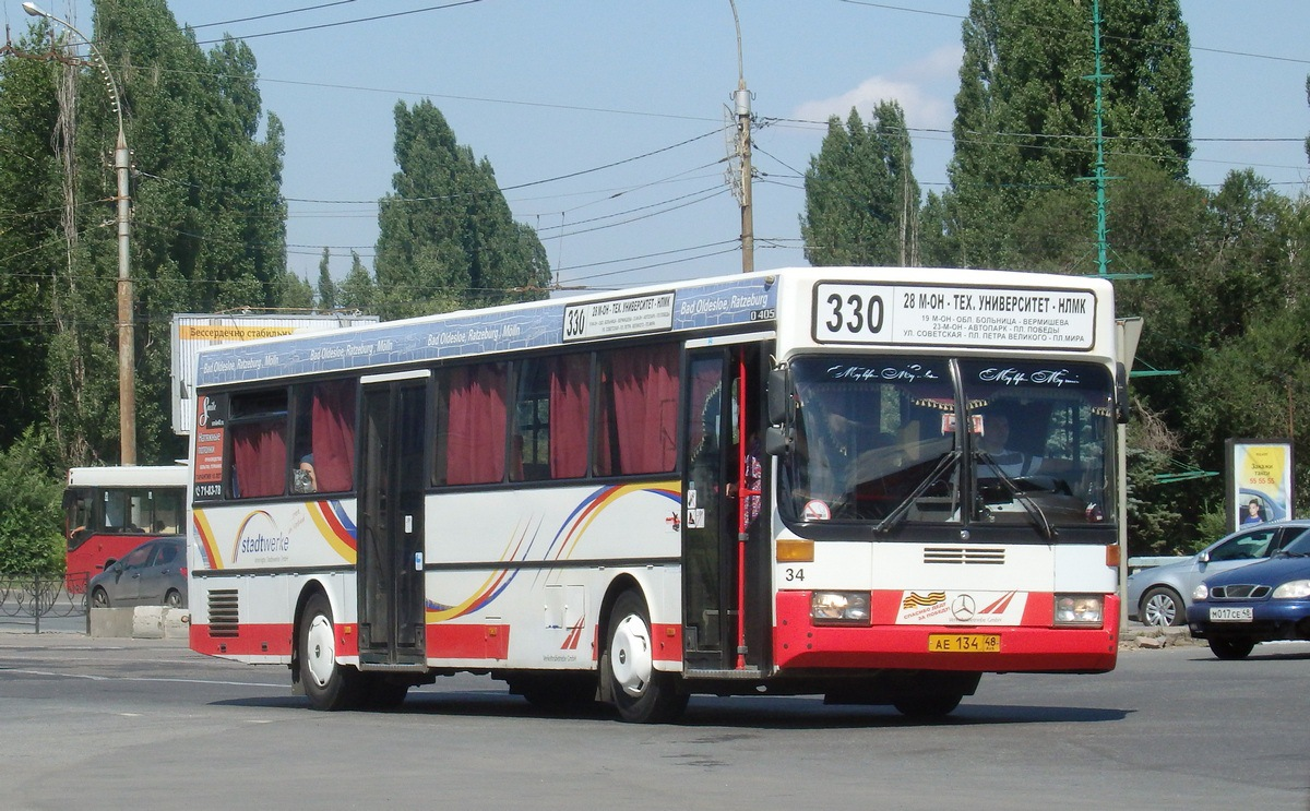 Lipetsk region, Mercedes-Benz O405 # АЕ 134 48