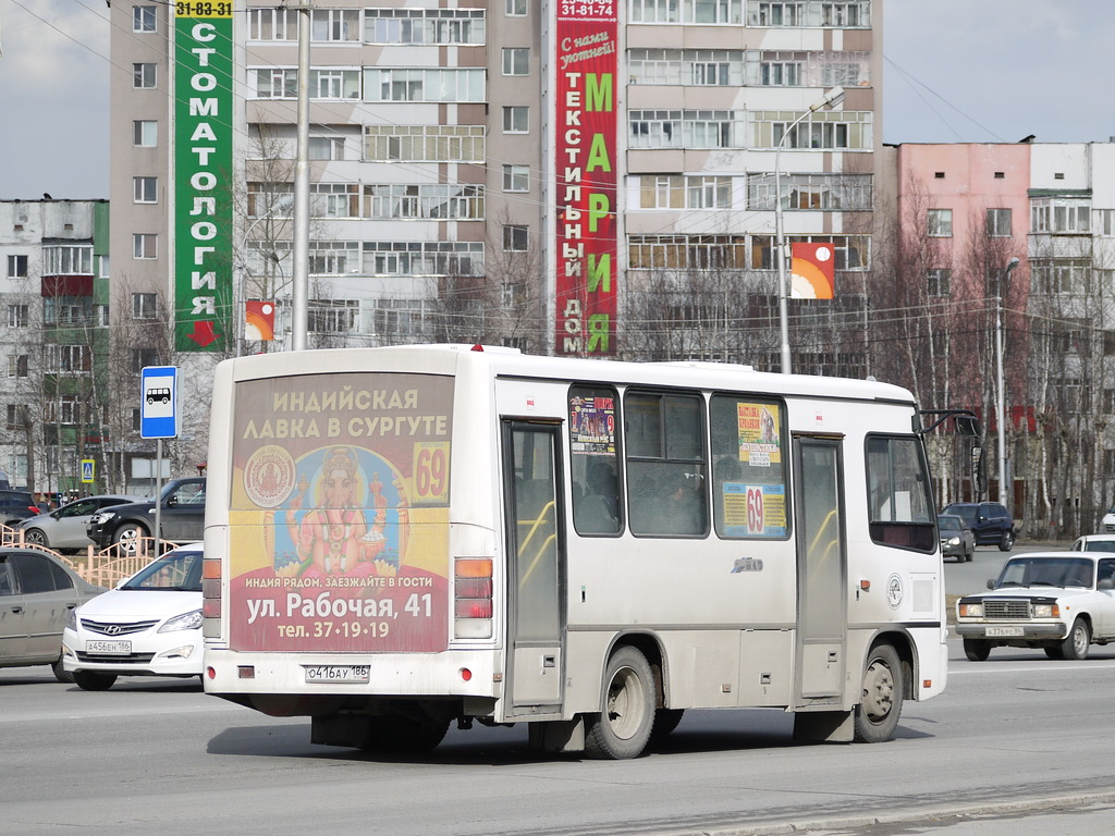 Khanty-Mansi AO, PAZ-320302-08 (2H, 2U) # О 416 АУ 186