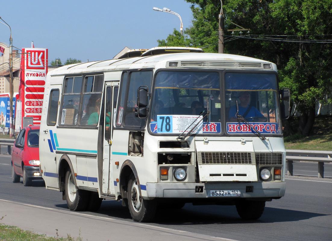 Nizhegorodskaya region, PAZ-32053 (30, E0, C0, B0) # В 532 УН 152