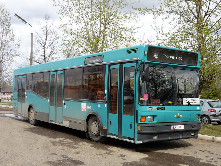 Vitebsk region, MAZ-104.021 # ВА 7611