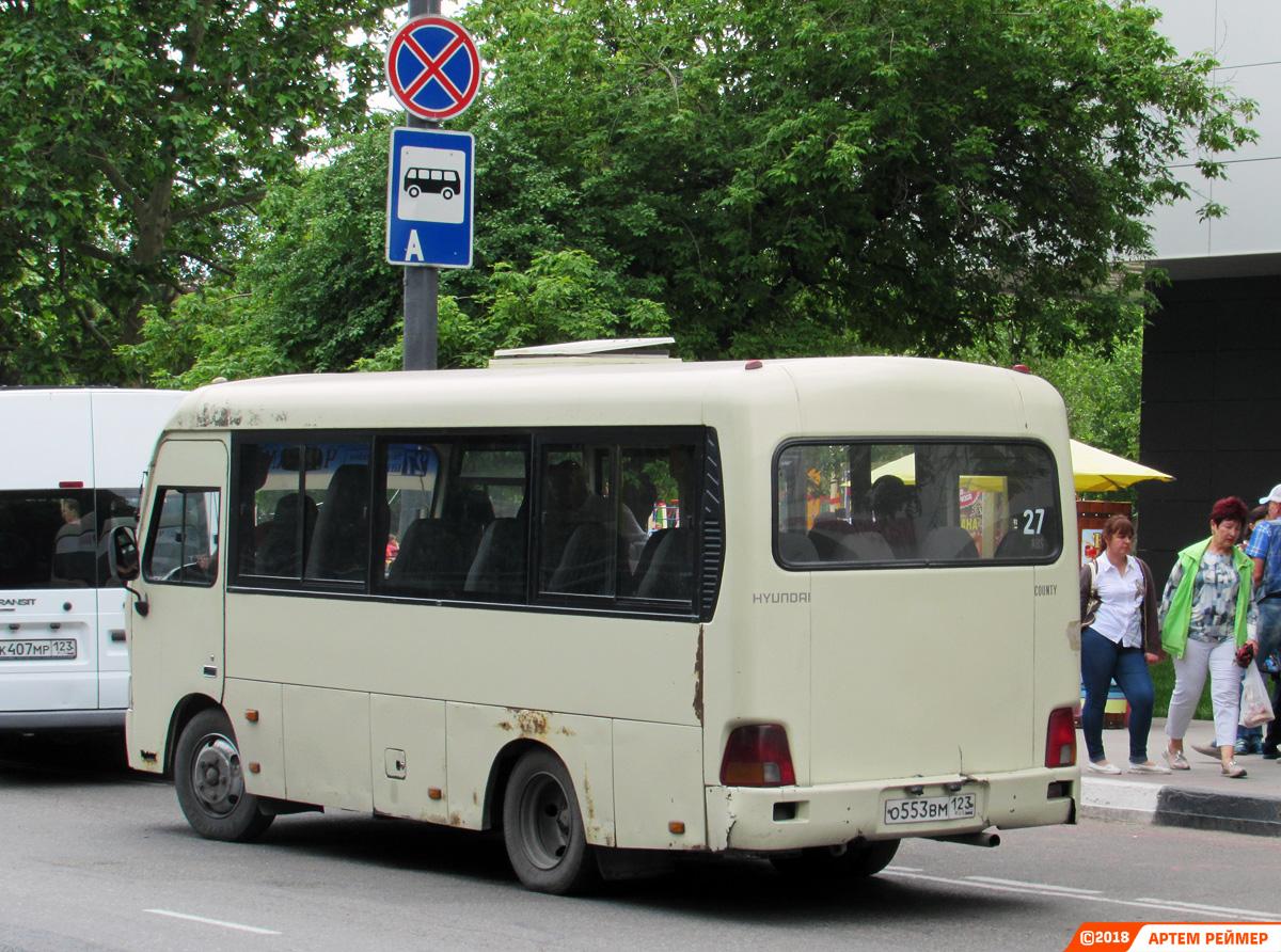 Краснодарский край, Hyundai County SWB (РЗГА) № О 553 ВМ 123