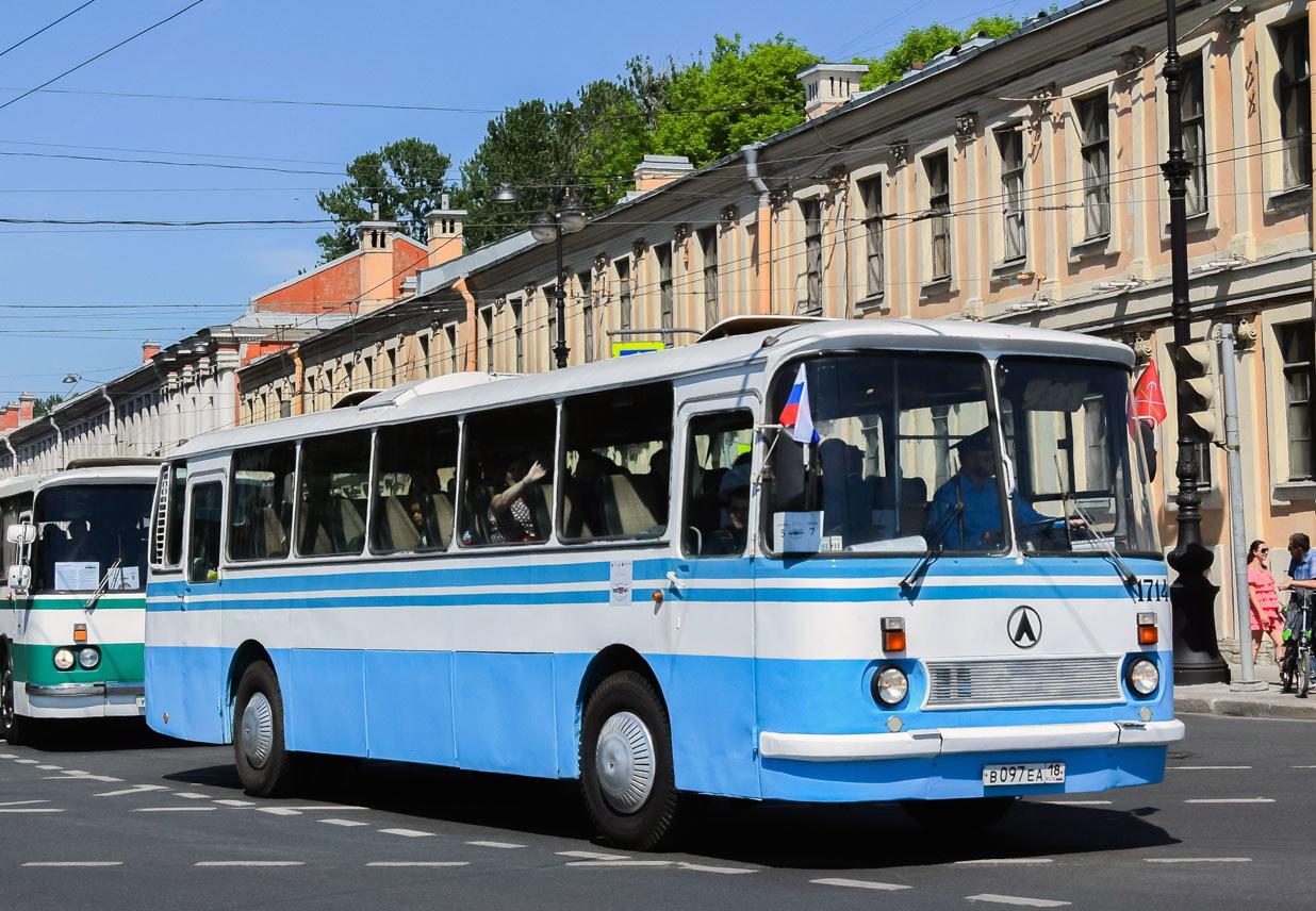 Saint-Petersburg, LAZ-699R # 1714; Saint-Petersburg — 4th St. Petersburg International Innovation passenger transport forum Smart Transport (2017)