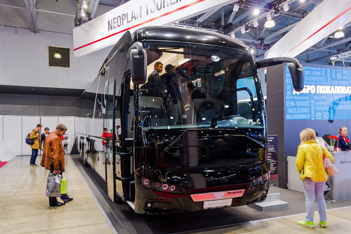 "Moscow, Neoplan N2216/3SHDL Tourliner # Neoplan N2216; Moscow region — International coach&bus show ""Busworld 2018"""